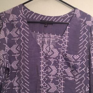 Fred David Tops - Shiny blue/gray w/white Fred Davis med top 3button